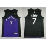 NBA Raptors #7 Kyle Lowry Purple and black Swingman Earned Edition Jersey