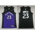 NBA Raptors #23 Fred VanVleet Purple and black Swingman Earned Edition Jersey