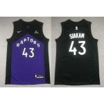 NBA Raptors #43 Pascal Siakam Purple and black Swingman Earned Edition Jersey