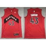NBA Raptors #43 Pascal Siakam Red 2020-21 Icon Edition Nike Swingman Jersey