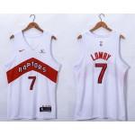 Men's Toronto Raptors #7 Kyle Lowry White 2020-21 Association Nike Swingman Jersey