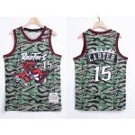 NBA Raptors #15 Vince Carter Green Camo 1996-97 Hardwood Classics Jersey