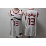 NBA Houston Rockets #13 James Harden White 2019-20 City Edition Nike Jersey
