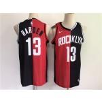 Men's Houston Rockets #13 Harden 2021 past and present red black rockets MVP Nike NBA Jersey