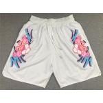 Miami Heat x Pink Panther Just Don White Basketball Shorts