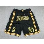 NBA Los Angeles Lakers #8+24 Black Mamba Shorts