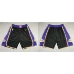 NBA Los Angeles Lakers Black Swingman 2020-21 Earned Edition Shorts