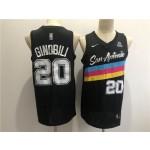 Men's San Antonio Spurs #20 Manu Ginobili Black 2021 Nike City Edition Swingman Stitched NBA Jersey
