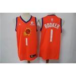 Men's Phoenix Suns #1 Booker Orange Game 2021 NBA Jersey