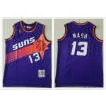 NBA Throwback Phoenix Suns Steve Nash #13 Purple Mitchell & Ness Jersey