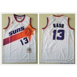 NBA Throwback Phoenix Suns Steve Nash #13 White Mitchell & Ness Jersey