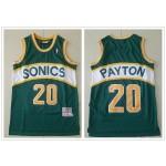 NBA Seattle SuperSonics #20 Gary Payton Green Throwback Jersey