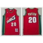 NBA Seattle SuperSonics #20 Gary Payton Red 1997-98 Hardwood Classics Jersey