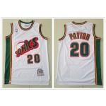 NBA Seattle SuperSonics #20 Gary Payton White 1995-96 Hardwood Classics Jersey