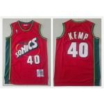 NBA Seattle SuperSonics #40 Shaw Kemp Red 1995-96 Hardwood Classics Jersey