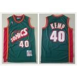 NBA Seattle SuperSonics #40 Shawn Kemp Green 1995-96 Hardwood Classics Jersey