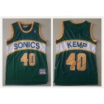 NBA Seattle SuperSonics #40 Shawn Kemp Green Throwback Jersey
