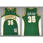 NBA Seattle SuperSonics #35 Kevin Durant Green 2007-08 Hardwood Classics Jersey