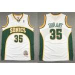 NBA Seattle SuperSonics #35 Kevin Durant White 2007-08 Hardwood Classics Jersey