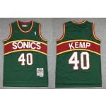 NBA Throwback Seattle SuperSonics #40 Shawn Kemp Green 1994-95 Hardwood Classics Jersey