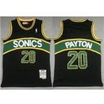 Seattle SuperSonics #20 Gary Payton 1995-96 Black Hardwood Classics Jersey