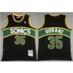 Seattle SuperSonics #35 Kevin Durant 2007-08 Black Hardwood Classics Jersey