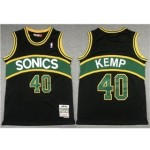 Seattle SuperSonics #40 Shawn Kemp 1994-95 Black Hardwood Classics Jersey