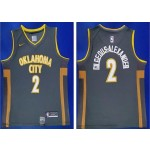 NBA Oklahoma City Thunder #2 Shai Gilgeous-Alexander Black 2019-20 City Edition Nike Swingman Jersey