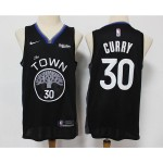 NBA Golden State Warriors #30 Stephen Curry Black 2020 City Edition Nike Swingman Jersey
