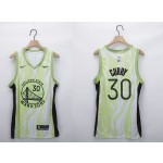 NBA Golden State Warriors #30 Stephen Curry White Green 2020-21 Fashion NBA Jersey