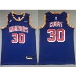 Golden State Warriors #30 Stephen Curry Blue Classic Edition Swingman Jersey