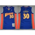 Golden State Warriors #30 Stephen Curry 2009-10 Blue Hardwood Classics Jersey