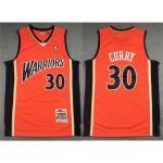 Golden State Warriors #30 Stephen Curry 2009-10 Orange Hardwood Classics Jersey