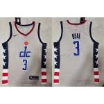 NBA Washington Wizards #3 Bradley Beal Grey 20020-21 City Edition Nike Swingman Jersey