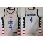NBA Washington Wizards #4 Russell Westbrook Grey 20020-21 City Edition Nike Swingman Jersey