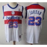 NBA Throwback Washington Wizards #23 Michael Jordan White Jersey
