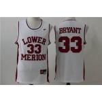 LOWER MERION SCHOOL white #33 Bryant jersey