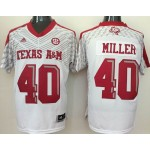 Texas A&M Aggies #40 White  jersey