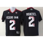 Texas A&M Manziel #2 black jersey