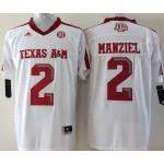 Texas A&M Manziel #2 white jersey