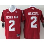 Texas A&M Manziel #2 red jersey