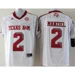 Youth Texas A&M Aggies white #2 Manziel jersey