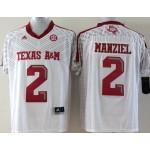 Youth Texas A&M Aggies white #2 Manziel jersey