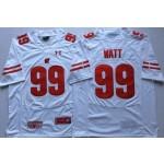 Wisconsin Badgers White #99 WATT
