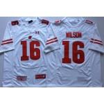 Wisconsin Badgers White #16 WILSON