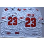 Wisconsin Badgers White #23 TAYLOR