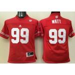 Youth Wisconsin Badgers #99 Watt jersey