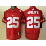 Youth Wisconsin Badgers Red #25 Gordon III jersey