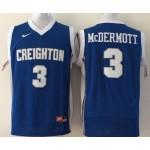 Creighton Bluejays McDermott #3 blue jersey