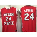 FRESNO STATE BULLDOGS red #24 George jersey